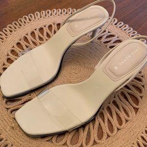 Zara clear vinyl heels